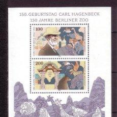 Sellos: ALEMANIA FEDERAL 1994 HB IVERT 27 *** 150 ANIVERSARIO DEL ZOO DE BERLIN Y NACIMIENTO CARL HAGGENBECK. Lote 119702675