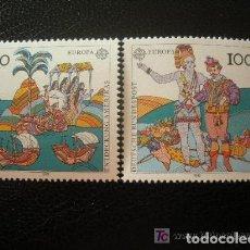 Sellos: ALEMANIA FEDERAL 1992 IVERT 1436/7 *** EUROPA - 500 ANIVERSARIO DEL DESCUBRIMIENTO DE AMERICA. Lote 120335411