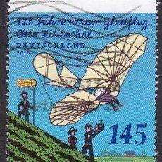 Sellos: DEUTSCHLAND BUND ALEMANIA 2016 125TH ANNIVERSARY OF OTTO LILIENTHAL'S FIRST FLIGHT MI 3254 YV 3050. Lote 121676344