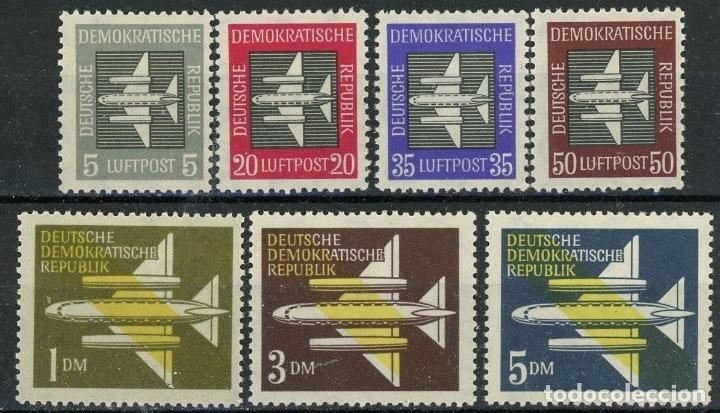 ALEMANIA ORIENTAL DDR AEREO 1957 IVERT 1/7 * SERIE BÁSICA - AVIONES (Sellos - Extranjero - Europa - Alemania)