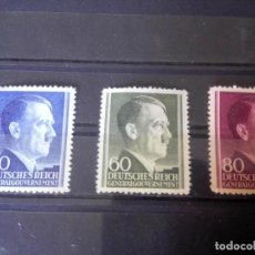 Sellos: ALEMANIA, OCUPACIÓN DE POLONIA, GOBIERNO GENERAL, 1942 MICHEL 83/85. Lote 125956827