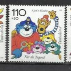 Sellos: 6208-SERIE COMPLETA ALEMANIA INFANCIA 1998 Nº1822/8 14,00€ YVERT MNH** NUEVOS. Lote 126032471