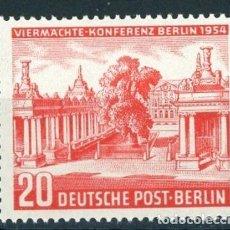 Sellos: BERLIN 1954 IVERT 104 *** CONFERENCIA DE LOS CUATRO EN BERLIN - MONUMENTOS. Lote 127246051