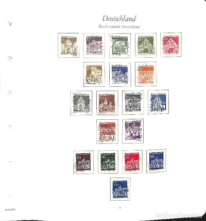 ALEMANIA FEDERAL, 1966-1989 COLECCIÓN DE SELLOS Y HOJAS BLOQUE EN USADO, (Sellos - Extranjero - Europa - Alemania)