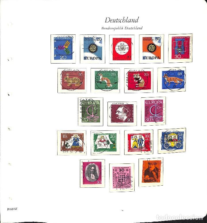 Sellos: ALEMANIA FEDERAL, 1966-1989 COLECCIÓN DE SELLOS Y HOJAS BLOQUE EN USADO, - Foto 2 - 128830527