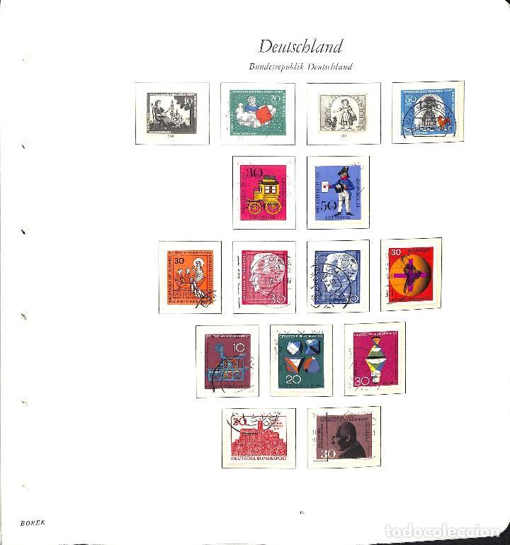 Sellos: ALEMANIA FEDERAL, 1966-1989 COLECCIÓN DE SELLOS Y HOJAS BLOQUE EN USADO, - Foto 3 - 128830527