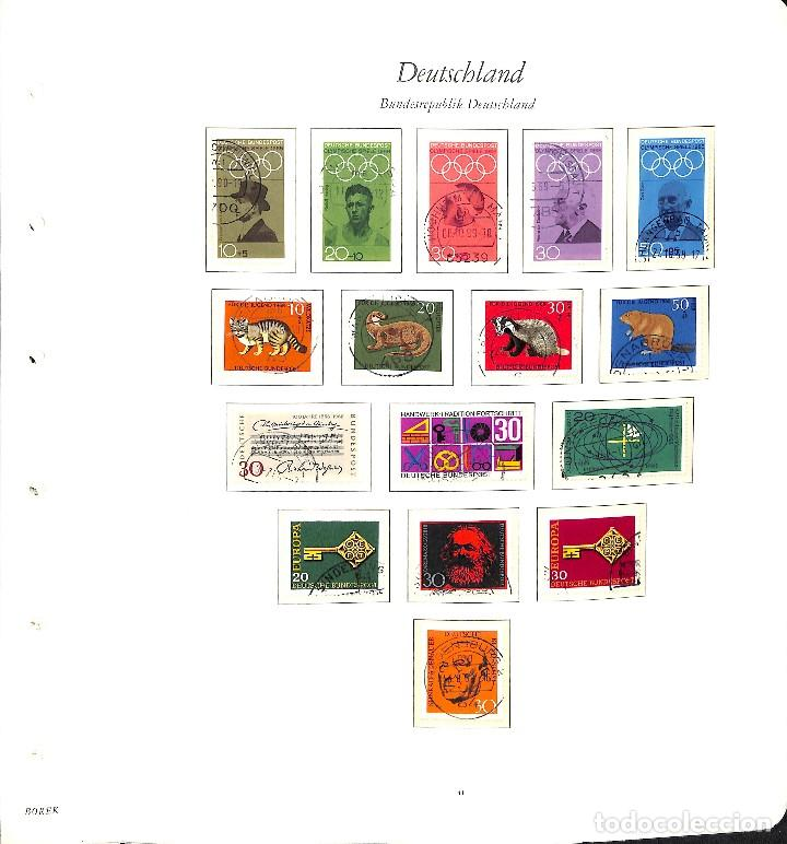 Sellos: ALEMANIA FEDERAL, 1966-1989 COLECCIÓN DE SELLOS Y HOJAS BLOQUE EN USADO, - Foto 4 - 128830527