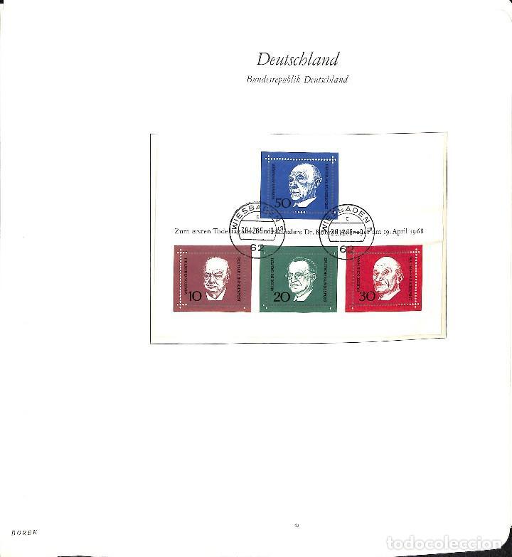 Sellos: ALEMANIA FEDERAL, 1966-1989 COLECCIÓN DE SELLOS Y HOJAS BLOQUE EN USADO, - Foto 5 - 128830527