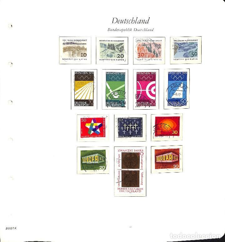 Sellos: ALEMANIA FEDERAL, 1966-1989 COLECCIÓN DE SELLOS Y HOJAS BLOQUE EN USADO, - Foto 8 - 128830527