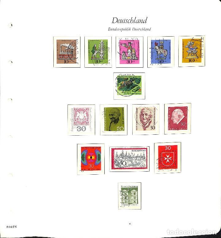 Sellos: ALEMANIA FEDERAL, 1966-1989 COLECCIÓN DE SELLOS Y HOJAS BLOQUE EN USADO, - Foto 9 - 128830527