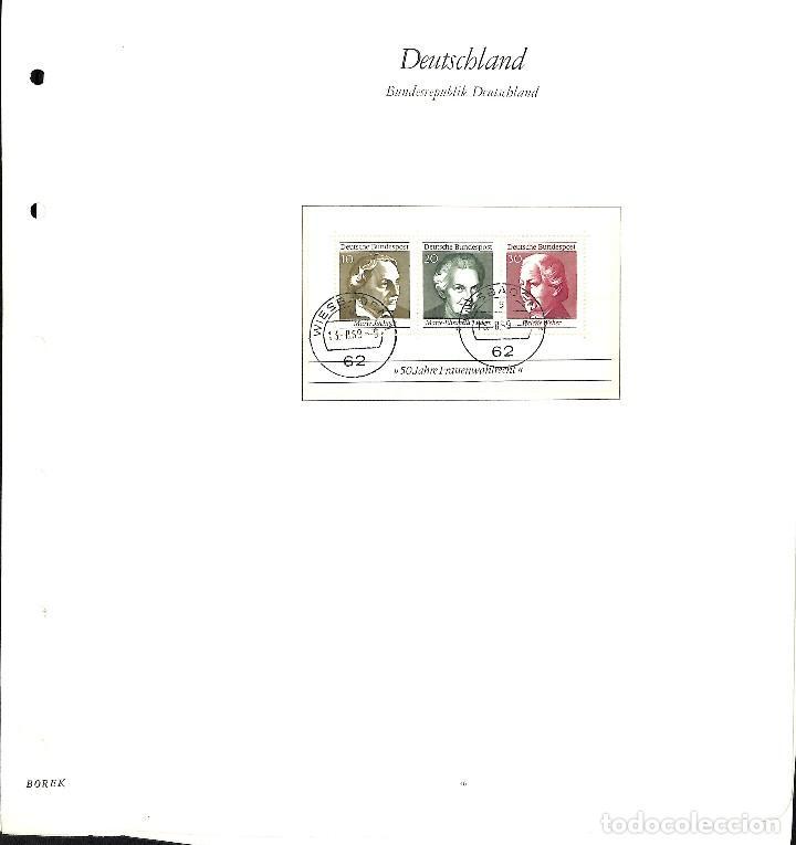 Sellos: ALEMANIA FEDERAL, 1966-1989 COLECCIÓN DE SELLOS Y HOJAS BLOQUE EN USADO, - Foto 11 - 128830527