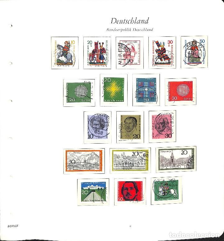 Sellos: ALEMANIA FEDERAL, 1966-1989 COLECCIÓN DE SELLOS Y HOJAS BLOQUE EN USADO, - Foto 12 - 128830527