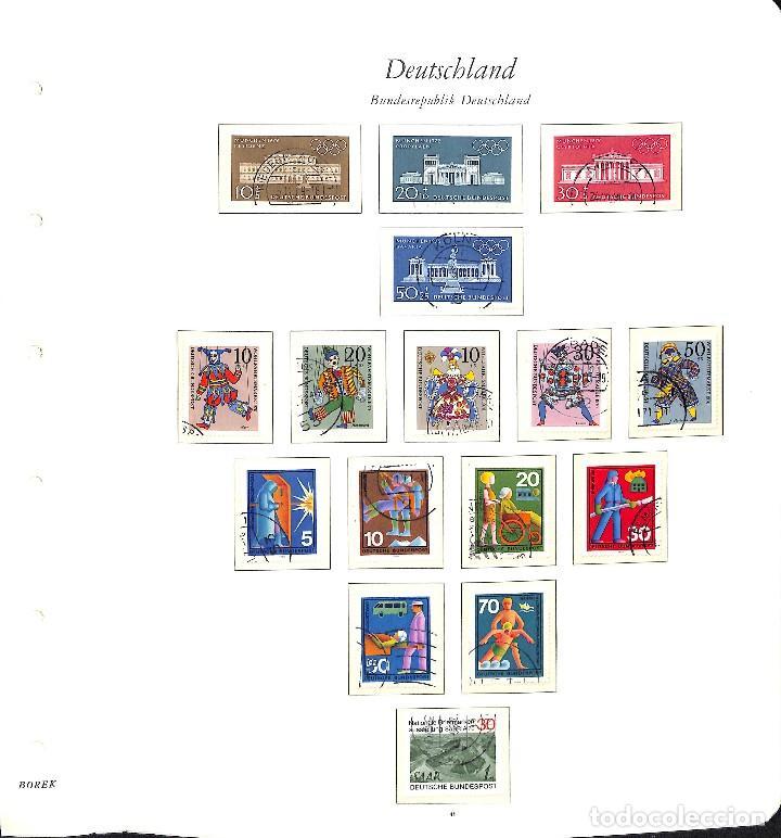 Sellos: ALEMANIA FEDERAL, 1966-1989 COLECCIÓN DE SELLOS Y HOJAS BLOQUE EN USADO, - Foto 13 - 128830527