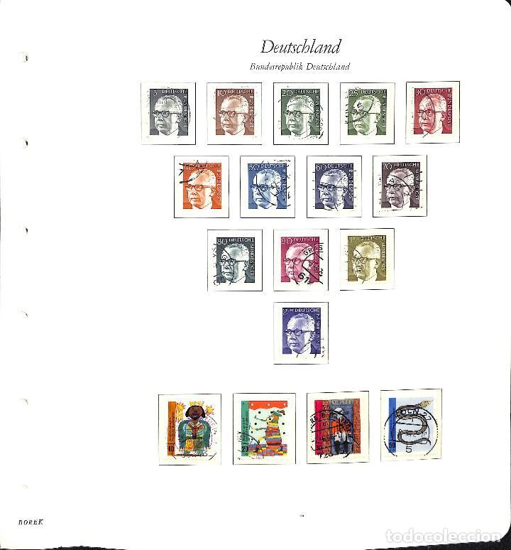 Sellos: ALEMANIA FEDERAL, 1966-1989 COLECCIÓN DE SELLOS Y HOJAS BLOQUE EN USADO, - Foto 14 - 128830527