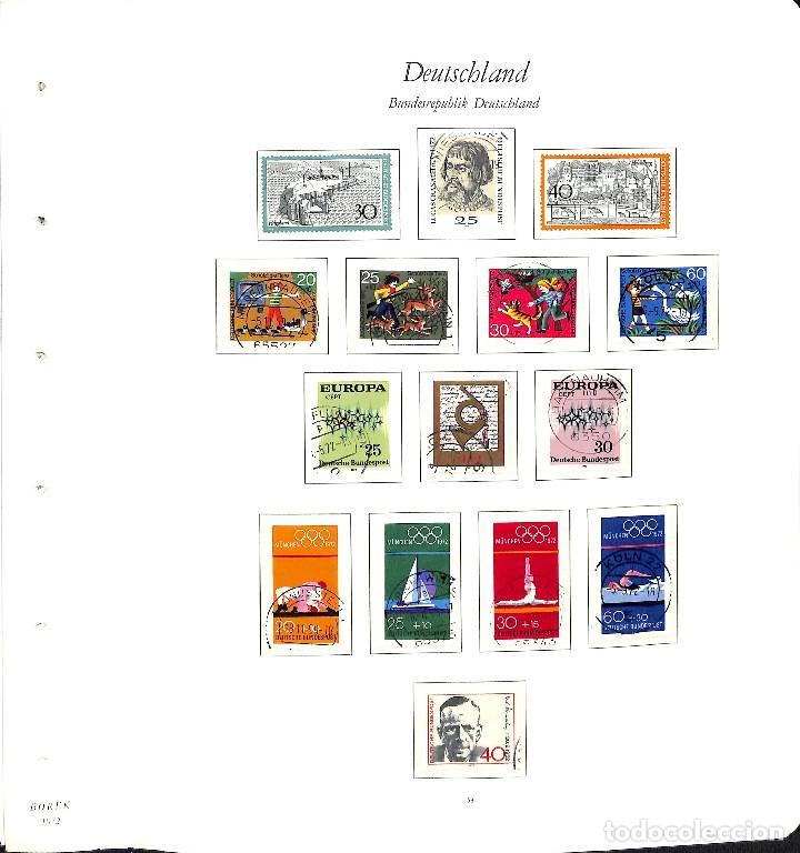 Sellos: ALEMANIA FEDERAL, 1966-1989 COLECCIÓN DE SELLOS Y HOJAS BLOQUE EN USADO, - Foto 19 - 128830527