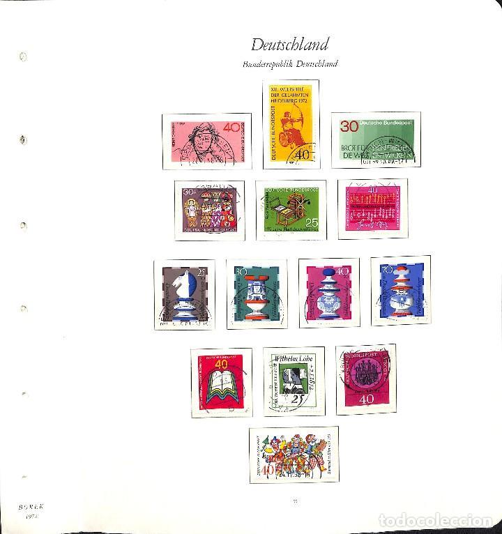 Sellos: ALEMANIA FEDERAL, 1966-1989 COLECCIÓN DE SELLOS Y HOJAS BLOQUE EN USADO, - Foto 22 - 128830527