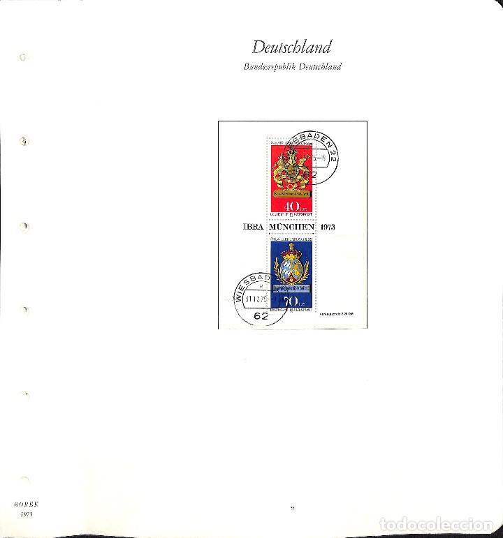 Sellos: ALEMANIA FEDERAL, 1966-1989 COLECCIÓN DE SELLOS Y HOJAS BLOQUE EN USADO, - Foto 25 - 128830527
