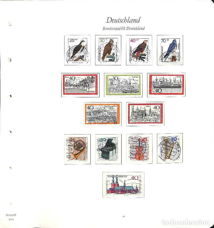 Sellos: ALEMANIA FEDERAL, 1966-1989 COLECCIÓN DE SELLOS Y HOJAS BLOQUE EN USADO, - Foto 27 - 128830527