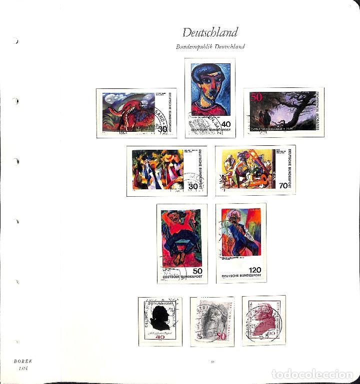 Sellos: ALEMANIA FEDERAL, 1966-1989 COLECCIÓN DE SELLOS Y HOJAS BLOQUE EN USADO, - Foto 30 - 128830527