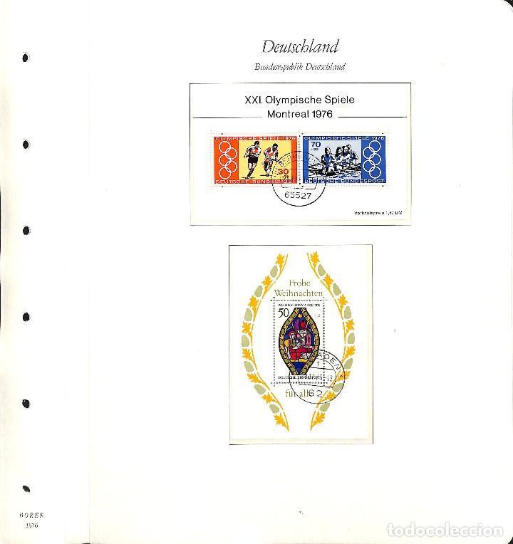 Sellos: ALEMANIA FEDERAL, 1966-1989 COLECCIÓN DE SELLOS Y HOJAS BLOQUE EN USADO, - Foto 38 - 128830527