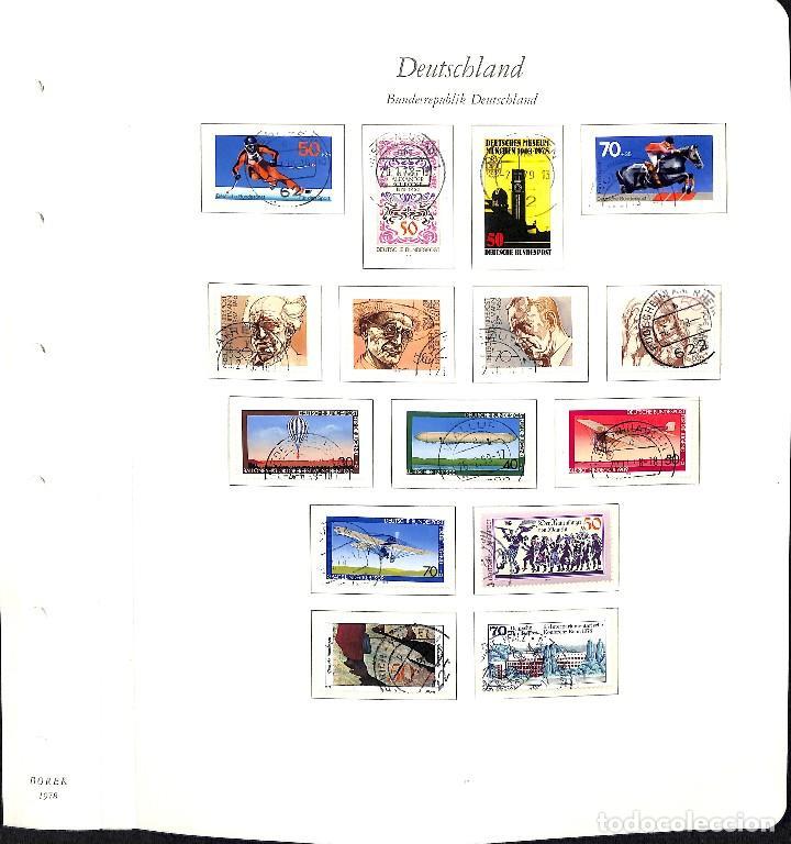 Sellos: ALEMANIA FEDERAL, 1966-1989 COLECCIÓN DE SELLOS Y HOJAS BLOQUE EN USADO, - Foto 45 - 128830527