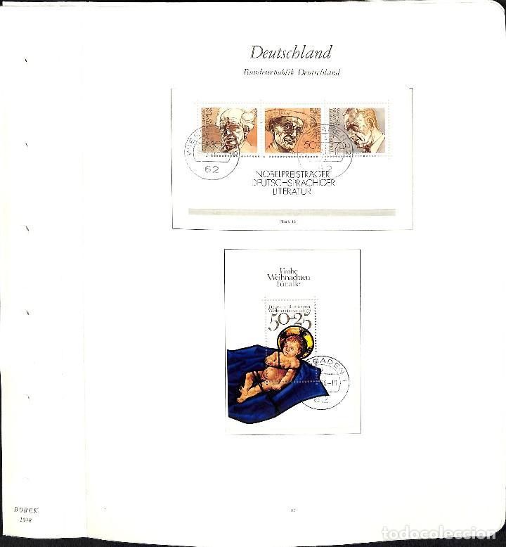 Sellos: ALEMANIA FEDERAL, 1966-1989 COLECCIÓN DE SELLOS Y HOJAS BLOQUE EN USADO, - Foto 48 - 128830527