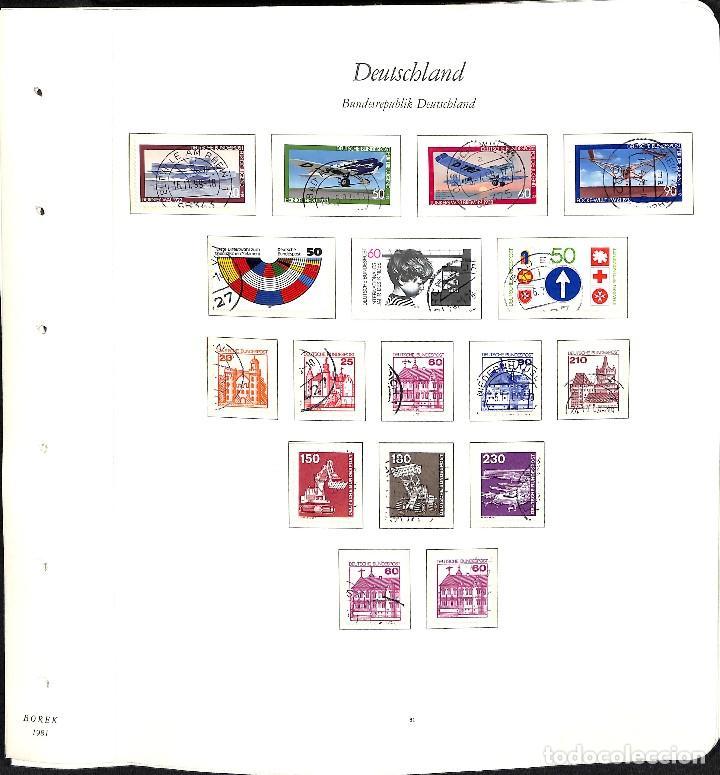 Sellos: ALEMANIA FEDERAL, 1966-1989 COLECCIÓN DE SELLOS Y HOJAS BLOQUE EN USADO, - Foto 49 - 128830527