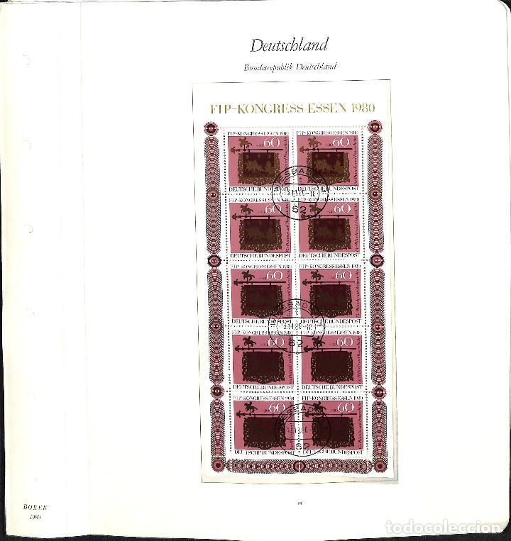 Sellos: ALEMANIA FEDERAL, 1966-1989 COLECCIÓN DE SELLOS Y HOJAS BLOQUE EN USADO, - Foto 55 - 128830527