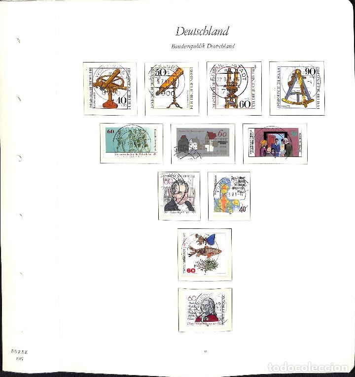 Sellos: ALEMANIA FEDERAL, 1966-1989 COLECCIÓN DE SELLOS Y HOJAS BLOQUE EN USADO, - Foto 56 - 128830527
