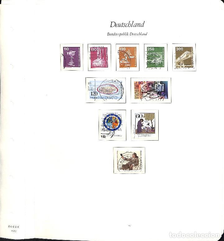 Sellos: ALEMANIA FEDERAL, 1966-1989 COLECCIÓN DE SELLOS Y HOJAS BLOQUE EN USADO, - Foto 60 - 128830527
