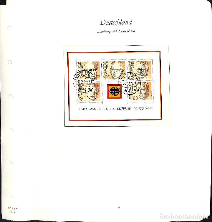 Sellos: ALEMANIA FEDERAL, 1966-1989 COLECCIÓN DE SELLOS Y HOJAS BLOQUE EN USADO, - Foto 63 - 128830527