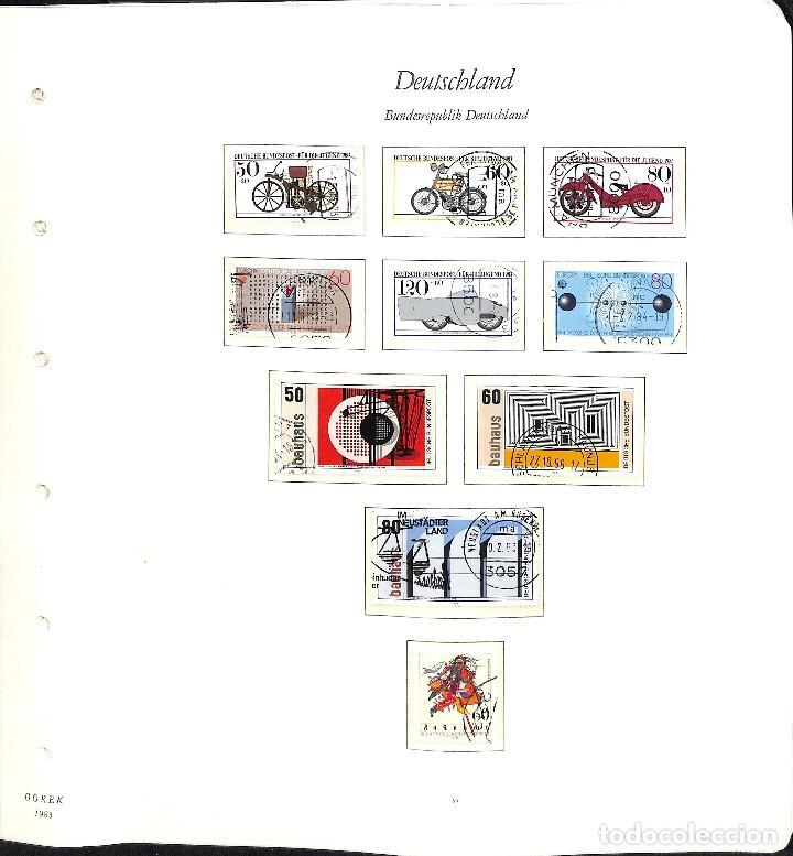 Sellos: ALEMANIA FEDERAL, 1966-1989 COLECCIÓN DE SELLOS Y HOJAS BLOQUE EN USADO, - Foto 65 - 128830527