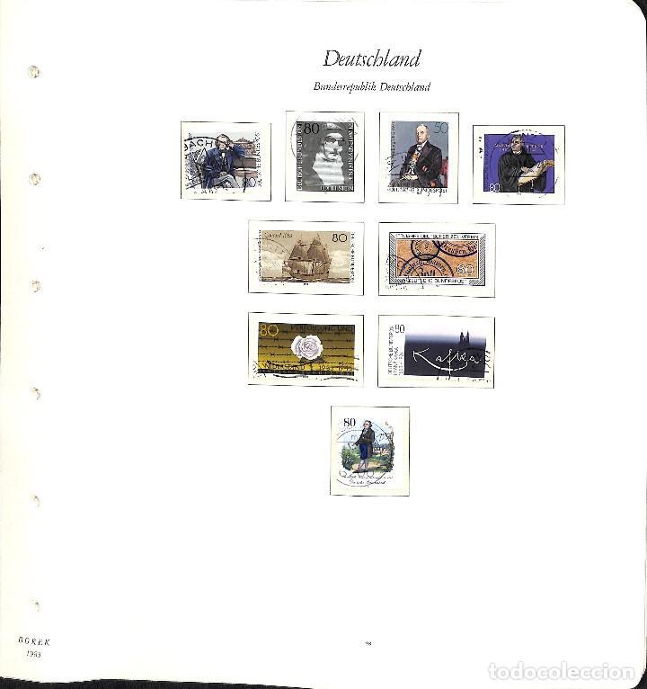 Sellos: ALEMANIA FEDERAL, 1966-1989 COLECCIÓN DE SELLOS Y HOJAS BLOQUE EN USADO, - Foto 66 - 128830527