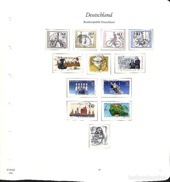 Sellos: ALEMANIA FEDERAL, 1966-1989 COLECCIÓN DE SELLOS Y HOJAS BLOQUE EN USADO, - Foto 73 - 128830527