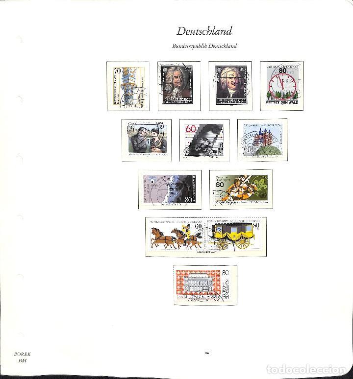 Sellos: ALEMANIA FEDERAL, 1966-1989 COLECCIÓN DE SELLOS Y HOJAS BLOQUE EN USADO, - Foto 74 - 128830527