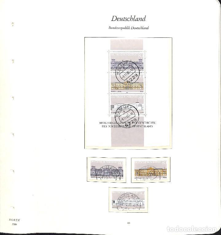 Sellos: ALEMANIA FEDERAL, 1966-1989 COLECCIÓN DE SELLOS Y HOJAS BLOQUE EN USADO, - Foto 78 - 128830527