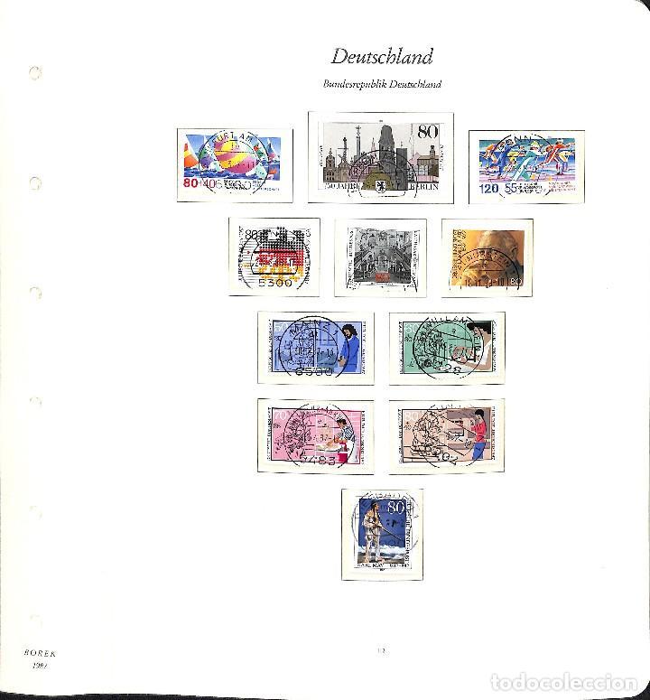 Sellos: ALEMANIA FEDERAL, 1966-1989 COLECCIÓN DE SELLOS Y HOJAS BLOQUE EN USADO, - Foto 80 - 128830527