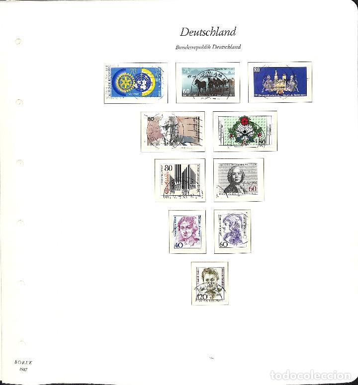 Sellos: ALEMANIA FEDERAL, 1966-1989 COLECCIÓN DE SELLOS Y HOJAS BLOQUE EN USADO, - Foto 82 - 128830527