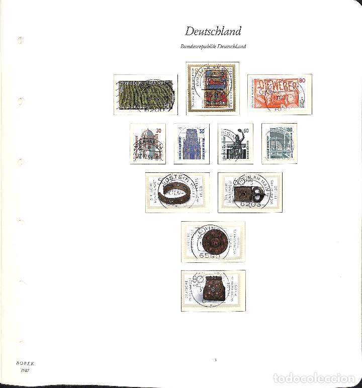 Sellos: ALEMANIA FEDERAL, 1966-1989 COLECCIÓN DE SELLOS Y HOJAS BLOQUE EN USADO, - Foto 83 - 128830527