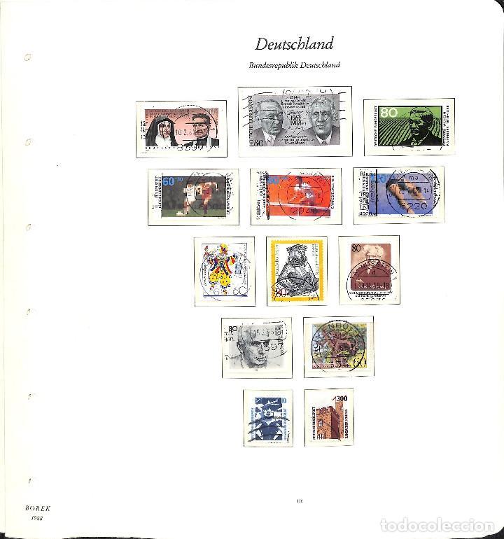 Sellos: ALEMANIA FEDERAL, 1966-1989 COLECCIÓN DE SELLOS Y HOJAS BLOQUE EN USADO, - Foto 84 - 128830527