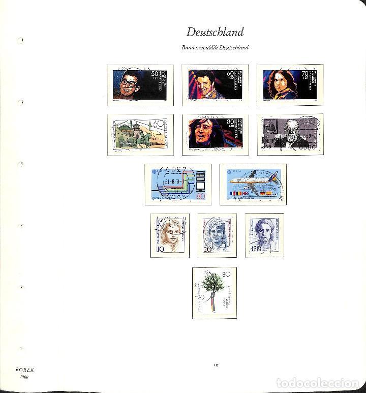 Sellos: ALEMANIA FEDERAL, 1966-1989 COLECCIÓN DE SELLOS Y HOJAS BLOQUE EN USADO, - Foto 86 - 128830527