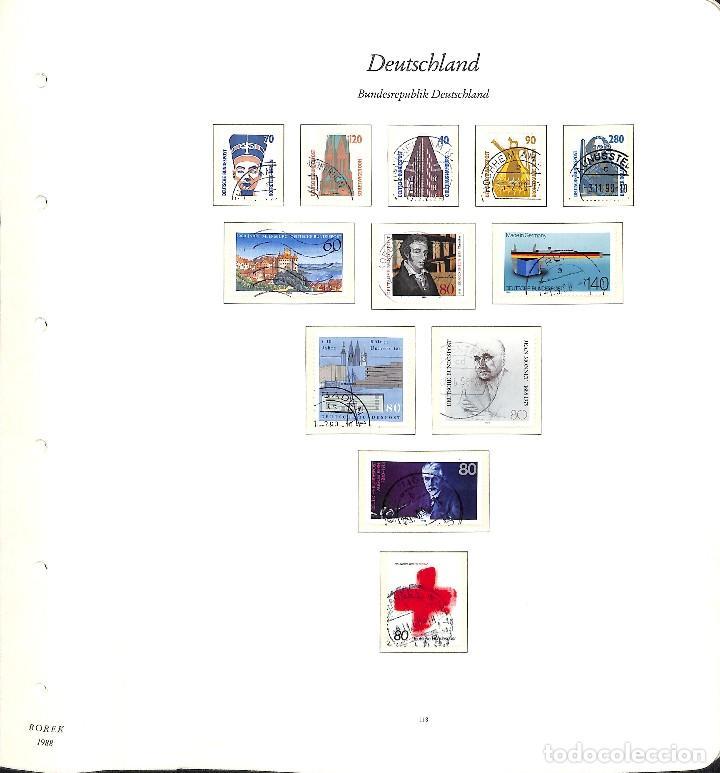 Sellos: ALEMANIA FEDERAL, 1966-1989 COLECCIÓN DE SELLOS Y HOJAS BLOQUE EN USADO, - Foto 87 - 128830527