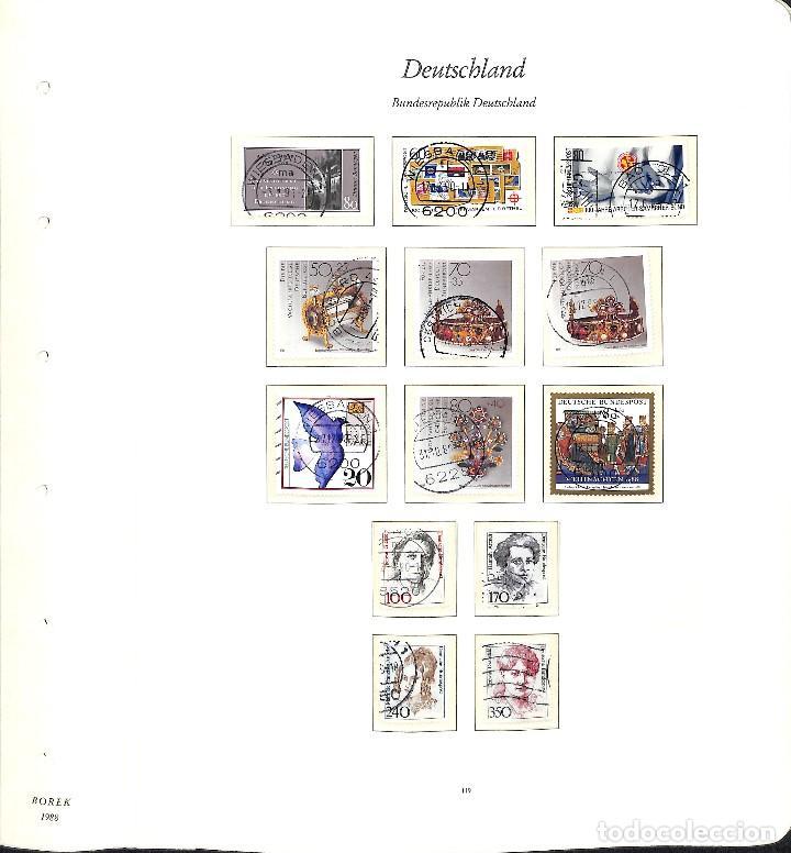 Sellos: ALEMANIA FEDERAL, 1966-1989 COLECCIÓN DE SELLOS Y HOJAS BLOQUE EN USADO, - Foto 88 - 128830527