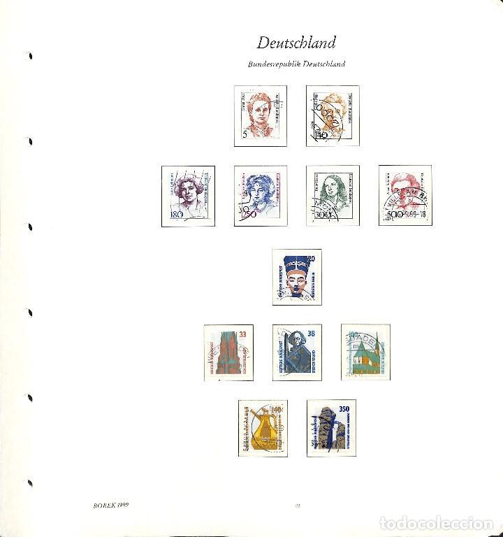 Sellos: ALEMANIA FEDERAL, 1966-1989 COLECCIÓN DE SELLOS Y HOJAS BLOQUE EN USADO, - Foto 91 - 128830527