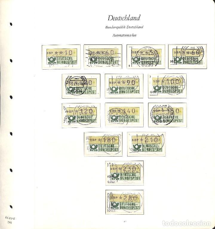Sellos: ALEMANIA FEDERAL, 1966-1989 COLECCIÓN DE SELLOS Y HOJAS BLOQUE EN USADO, - Foto 93 - 128830527
