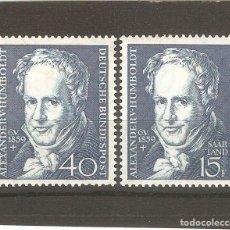 Sellos: ALEMANIA YVERT 180 Y SAAR 1959. Lote 131454378