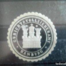 Selos: ALEMANIA, ANTIGUO SELLO DEL DEPARTAMENTO DE JUSTICIA DE HAMBURGO. Lote 133696950