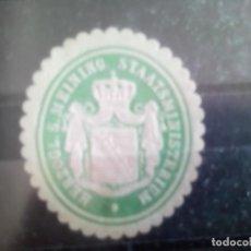 Selos: ALEMANIA, ANTIGUO SELLO DE MINISTERIO CREO QUE DEL ESTADO DE SAJONIA. Lote 133697030