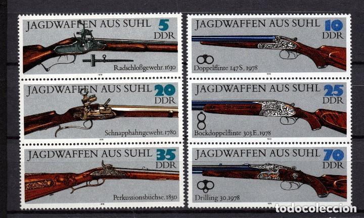 ALEMANIA ORIENTAL DDR 1978 IVERT 2050/5 *** ESCOPETAS DE CAZA (Sellos - Extranjero - Europa - Alemania)