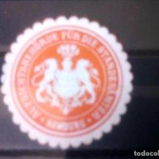 Selos: ALEMANIA, ANTIGUO SELLO DE LA AUTORIDAD SUPERVISORA DE LA OFICINA DEL REGISTRO CIVIL DE HAMBURGO. Lote 135415438